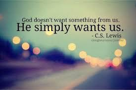 God simply wants us