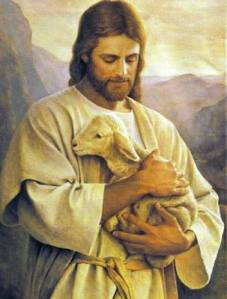 Jesus and lamb