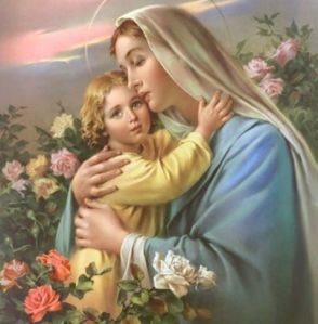 Jesus hugging Mary