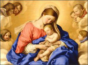 Mary and baby Jesus pretty