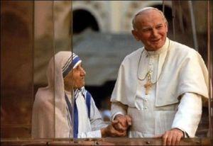 pope John paul and mother teresa