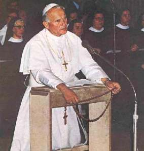 Pope John Paul II and rosary