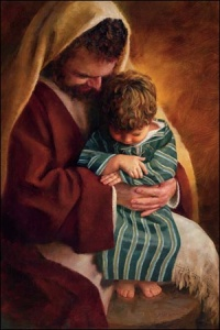 St. Joseph and little boy Jesus