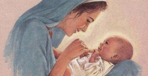 Mary playing with Jesus