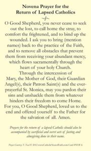 Prayer for lapsed Catholics