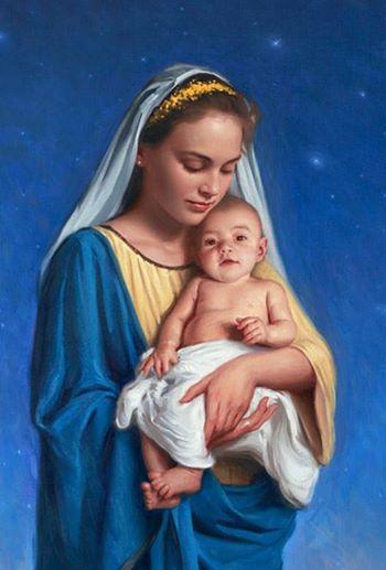 Mary holding Jesus