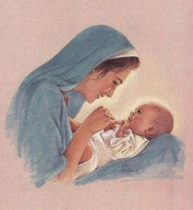Mary playing with Baby Jesus use this