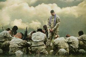Military praying