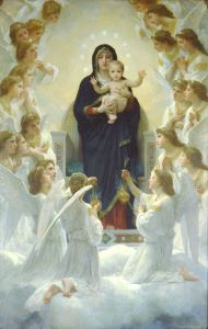 Baby Jesus with Angels and Mary
