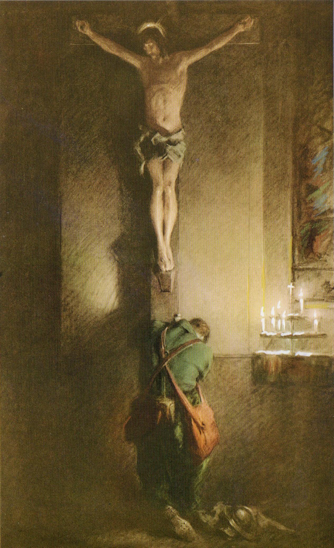Resultado de imagem para praying crucifix