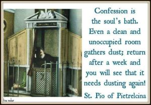 Confession is souls bath