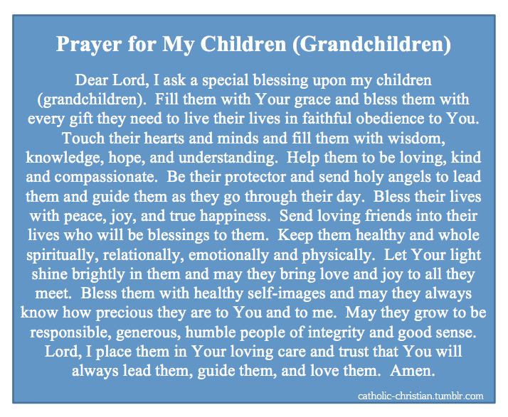 Prayer for My Children (Grandchildren) |