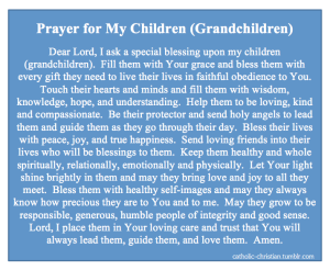 Prayer for Children and Grandchildren